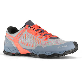 Salewa Lite Train K Shoes Women, blue fog/fluo coral